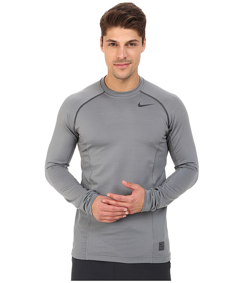 Imbracaminte Barbati Nike Hyperwarm Dri-FITtrade Max Fitted Long Sleeve Top Cool GreyAnthraciteAnthracite