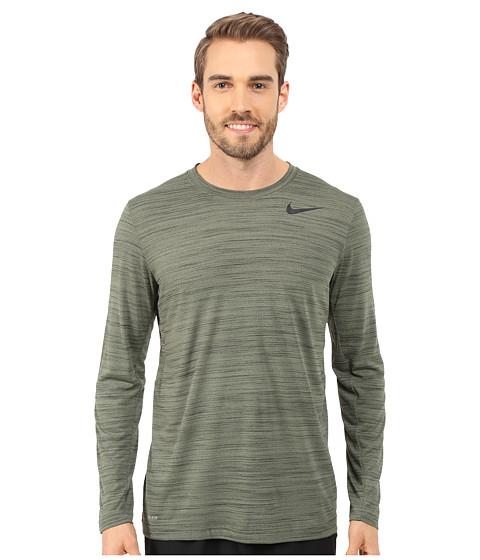 Imbracaminte Barbati Nike Dri-FITtrade Touch LS Medium OliveSequoiaHeatherBlack