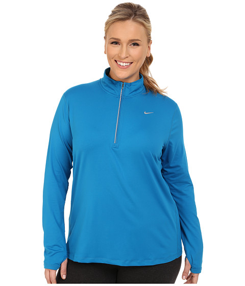Imbracaminte Femei Nike Dri-FITtrade Extended Element 12 Zip Imperial BlueReflective Silver