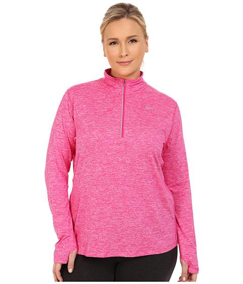 Imbracaminte Femei Nike Dri-FITtrade Extended Element 12 Zip Vivid PinkHeatherReflective Silver