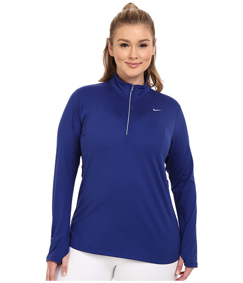 Imbracaminte Femei Nike Dri-FITtrade Extended Element 12 Zip Deep Royal BlueReflective Silver