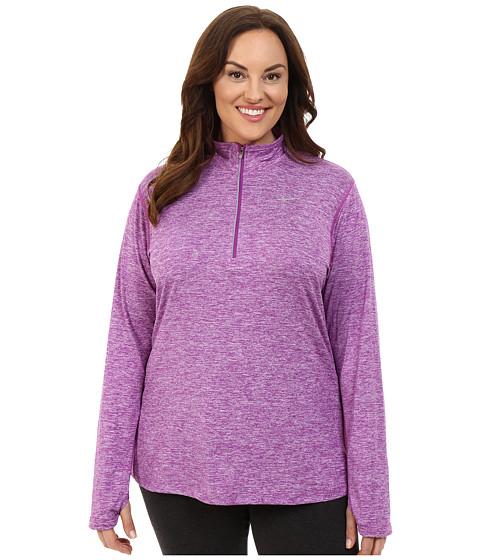 Imbracaminte Femei Nike Dri-FITtrade Extended Element 12 Zip Cosmic PurpleHeatherReflective Silver