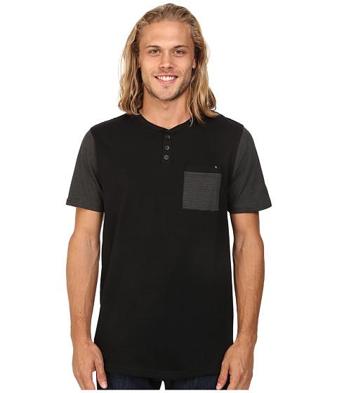 Imbracaminte Barbati Rip Curl Aruba Short Sleeve Henley Black