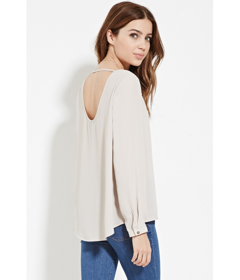 Imbracaminte Femei Forever21 Scoop Back Blouse Taupe