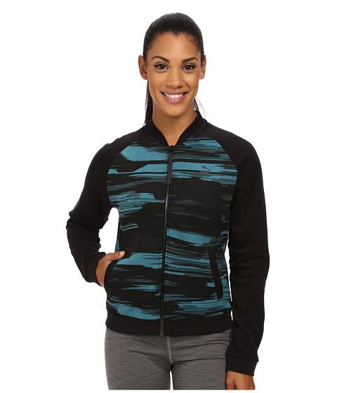 Imbracaminte Femei PUMA Blurred Bomber Sweat Jacket Colonial Blue