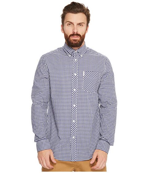 Imbracaminte Barbati Ben Sherman Long Sleeve Gingham Mod Shirt MA10113A Blue Depths