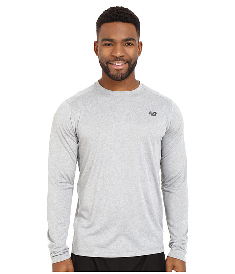 Imbracaminte Barbati New Balance Long Sleeve Heather Tech Tee Heather Grey