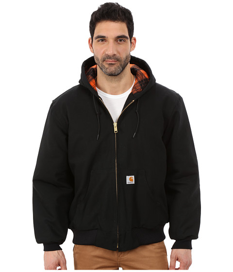Imbracaminte Barbati Carhartt Camo Lined Duck Active Jacket BlackBlaze Orange
