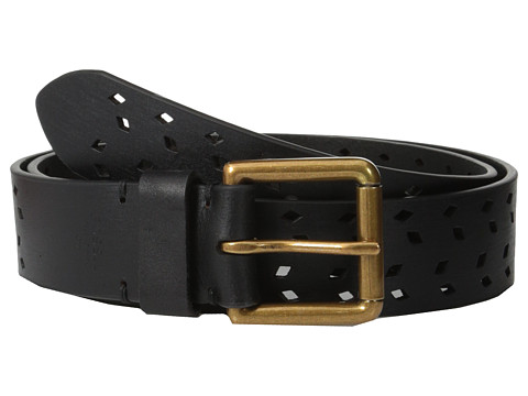 Accesorii Femei Fossil Diamond Perforated Belt Black