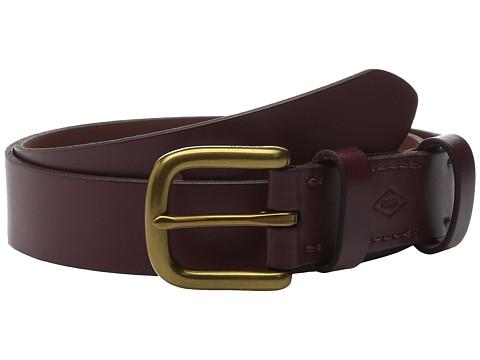 Accesorii Femei Fossil Double Leather Keeper Belt Maroon
