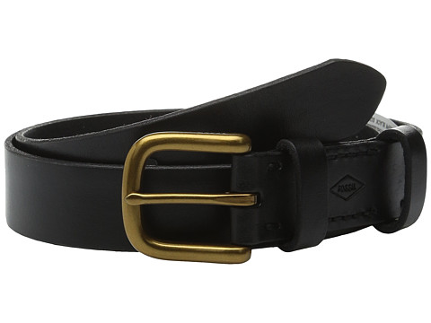 Accesorii Femei Fossil Double Leather Keeper Belt Black