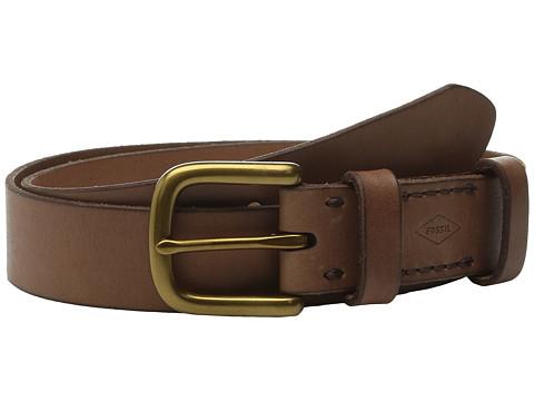 Accesorii Femei Fossil Double Leather Keeper Belt Brown