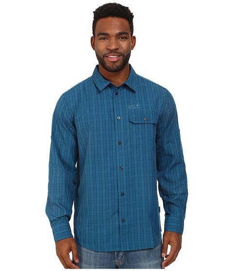 Imbracaminte Barbati Jack Wolfskin Tasman Shirt Moroccan Blue Checks