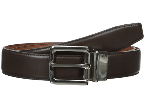 Accesorii Barbati Cole Haan 32mm Feather Edge Stitched Reversible with Harness Buckle Chocolate