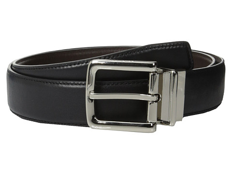 Accesorii Barbati Cole Haan 32mm Feather Edge Stitched Reversible with Harness Buckle BlackBrown