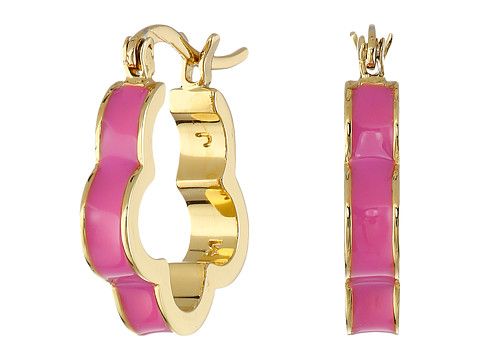 Bijuterii Femei Marc by Marc Jacobs Diamonds and Daisies Colored Daisy Window Mini Hoop Earrings Knock Out Pink