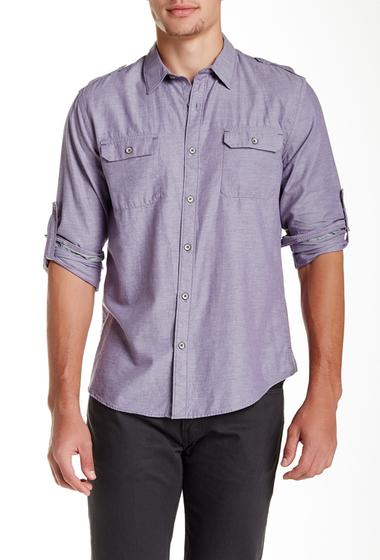 Imbracaminte Barbati DKNY Jeans Heathered Chambray Long Sleeve Shirt FADED VIOLET