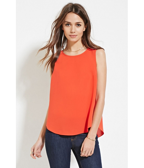 Imbracaminte Femei Forever21 Contemporary Slit-Back Top Tomato