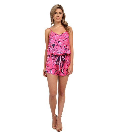 Imbracaminte Femei Lilly Pulitzer Deanna Romper Bright Navy Flirty Engineered