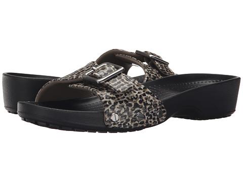 Incaltaminte Femei Crocs Sarah Leopard Sandal Black