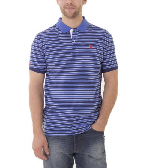 Imbracaminte Barbati US Polo Assn Slim Fit Striped Polo Shirt Marina Blue