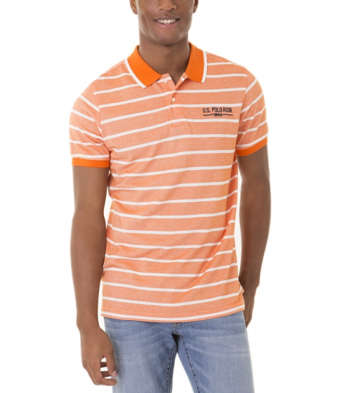 Imbracaminte Barbati US Polo Assn Striped Two Tone Polo Shirt CANOE ORANGE