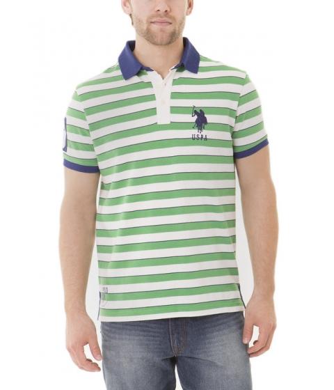 Imbracaminte Barbati US Polo Assn Slim Fit Stiped Polo Shirt GRASS HEATHER