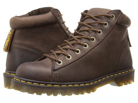 Incaltaminte Barbati Dr Martens Arne 8-Tie Boot Dark Brown Burnished Wyoming