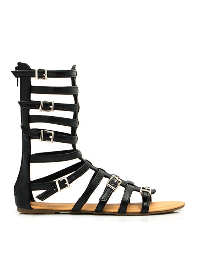 Incaltaminte Femei CheapChic Arena Allure Gladiator Sandals Black