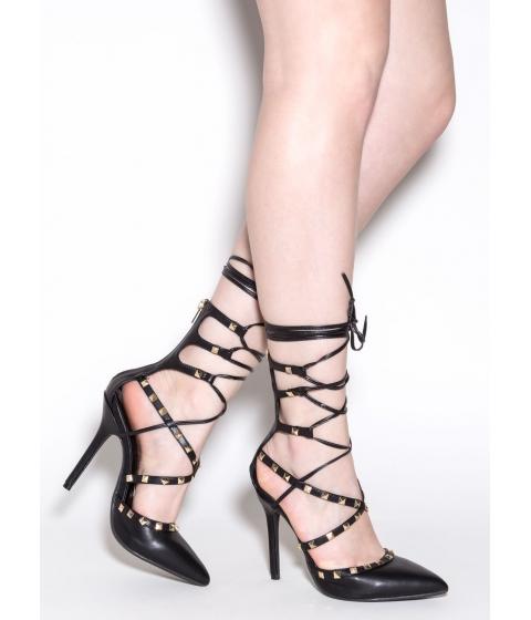 Incaltaminte Femei CheapChic Rock Revival Studded Heels Black