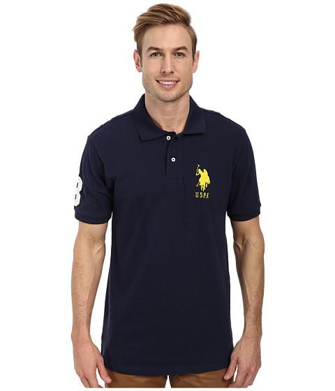 Imbracaminte Barbati US Polo Assn Solid Pique Polo Classic Navy