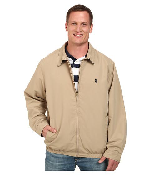 Imbracaminte Barbati US Polo Assn Micro Golf Jacket Desert Khaki
