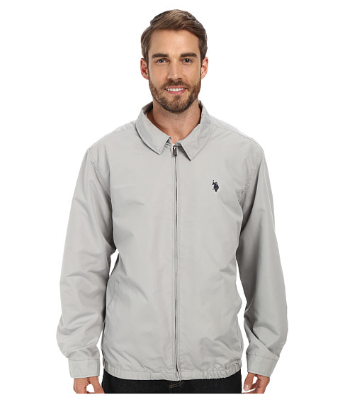 Imbracaminte Barbati US Polo Assn Micro Golf Jacket Limestone