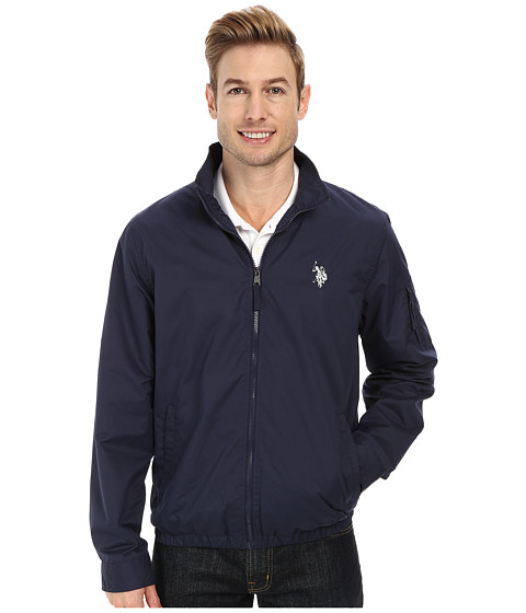 Imbracaminte Barbati US Polo Assn Mock Zip Jacket Classic Navy