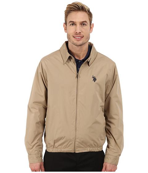Imbracaminte Barbati US Polo Assn Golf Jacket Desert Khaki