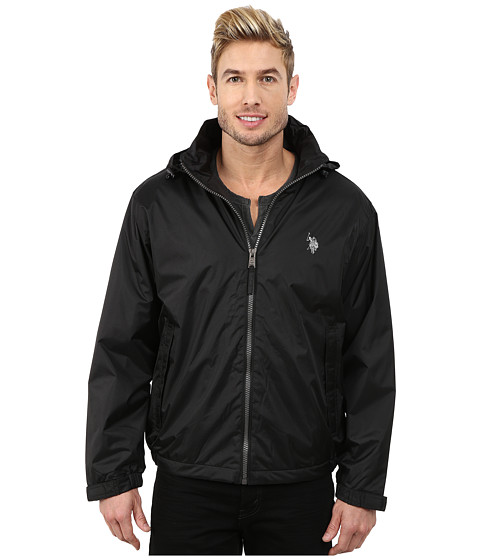 Imbracaminte Barbati US Polo Assn Hidden Hood Windbreaker Black