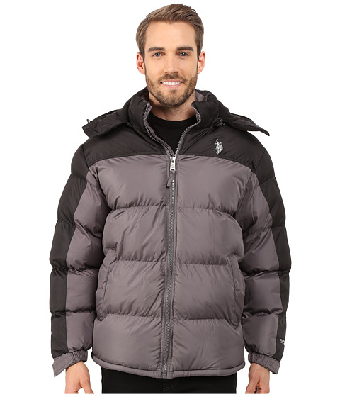 Imbracaminte Barbati US Polo Assn Color Block Bubble Jacket Castle Rock
