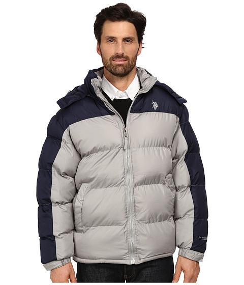 Imbracaminte Barbati US Polo Assn Color Block Bubble Jacket Limestone