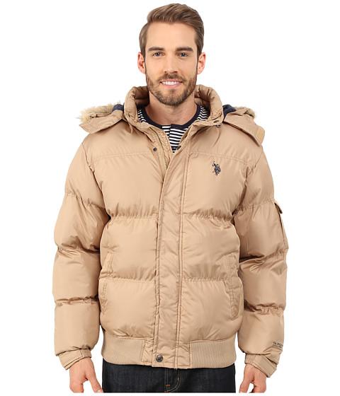 Imbracaminte Barbati US Polo Assn Short Snorkel Jacket Desert Khaki