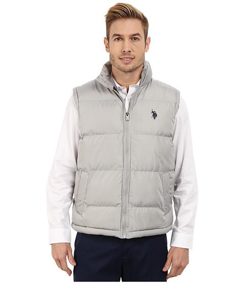 Imbracaminte Barbati US Polo Assn Basic Puffer Vest Limestone