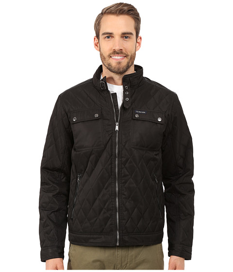 Imbracaminte Barbati US Polo Assn Mock Neck Quilted Jacket Black