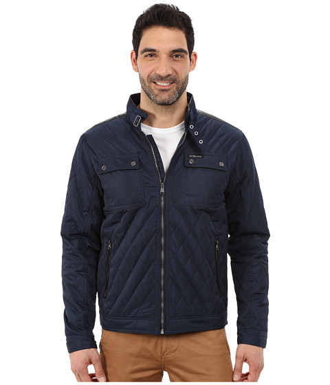 Imbracaminte Barbati US Polo Assn Mock Neck Quilted Jacket Classic Navy