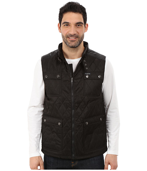 Imbracaminte Barbati US Polo Assn Quilted Vest with PU Yoke Black