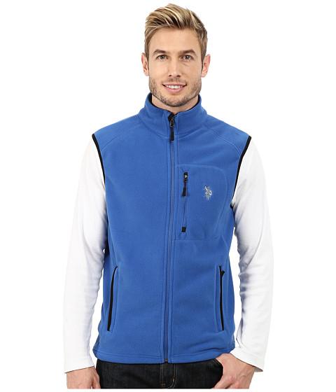 Imbracaminte Barbati US Polo Assn Polar Fleece Vest Core Blue