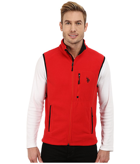 Imbracaminte Barbati US Polo Assn Polar Fleece Vest Engine Red