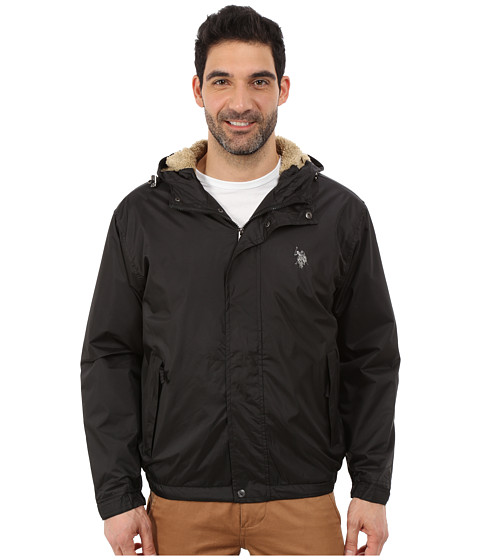 Imbracaminte Barbati US Polo Assn Hooded Windbreaker Black