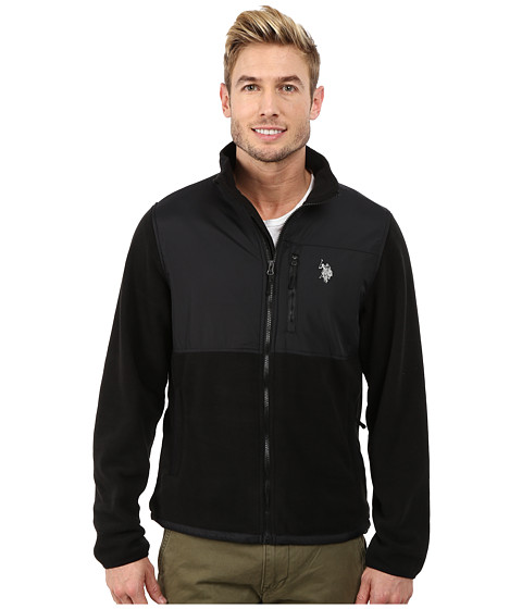 Imbracaminte Barbati US Polo Assn Polar Fleece Mock Neck Jacket Black