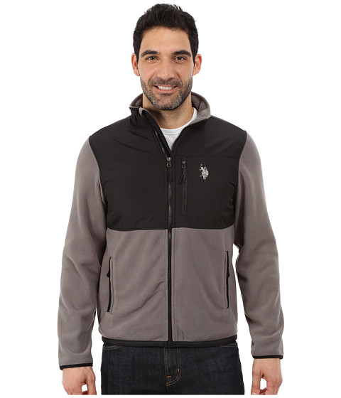 Imbracaminte Barbati US Polo Assn Polar Fleece Mock Neck Jacket Castle Rock