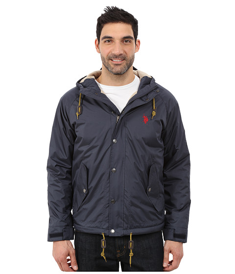 Imbracaminte Barbati US Polo Assn Fleece Lined Anorak Classic Navy