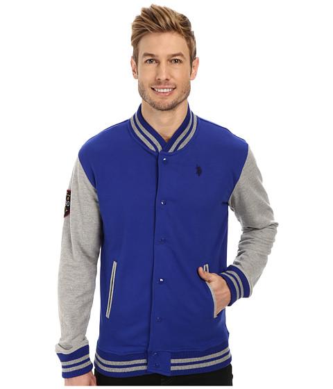 Imbracaminte Barbati US Polo Assn French Terry Baseball Jacket International Blue